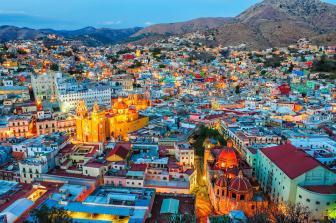 Vista del centro de Guanajuato