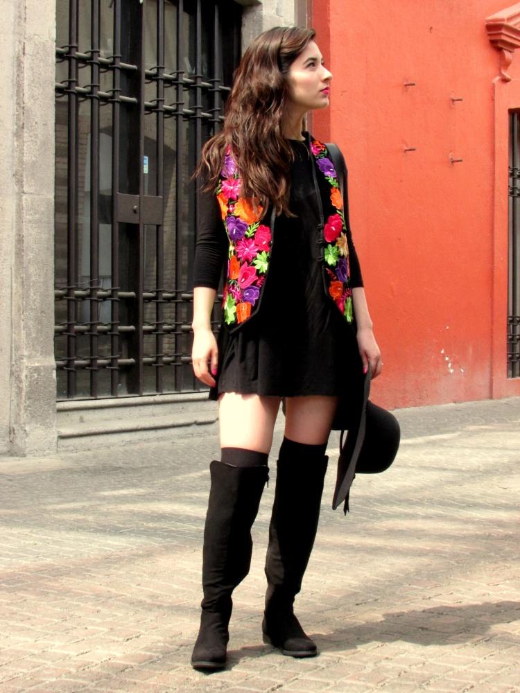 Entre invierno y primavera va bien un chaleco Bu00e9elia u2013 Mu00e9xico a colores